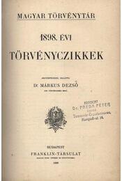 1898. évi törvényczikkek - Régikönyvek