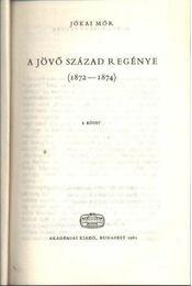 Jövő század regénye I-II. kötet - Régikönyvek