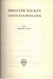 Cikkek és karcolatok XIV. (Kritikai kiadás) - Régikönyvek