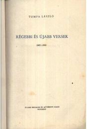 Régebbi és újabb versek - Régikönyvek