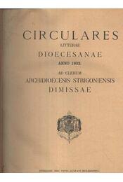 Circulares litterae dioecesanae - Régikönyvek