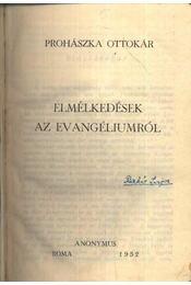 Elmélkedések az evangéliumról - Régikönyvek