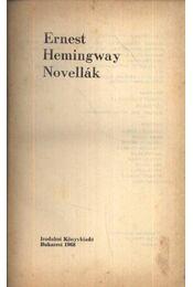 Novellák - Ernest Hemingway - Régikönyvek