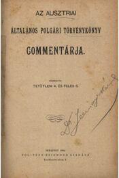 Az ausztriai általános polgári törvénykönyv commentárja - Régikönyvek