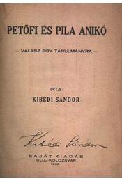 Petőfi és Pila Anikó (dedikált) - Régikönyvek