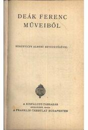 Deák Ferenc műveiből - Régikönyvek