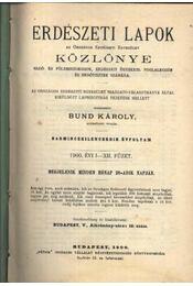 Erdészeti Lapok Közlönye 1900. II. - Régikönyvek