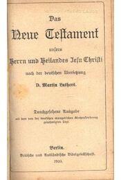 Das Neue Testament - Régikönyvek