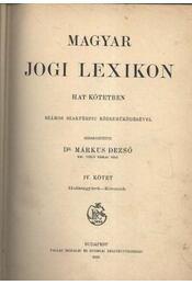 Magyar jogi lexikon IV. kötet - Régikönyvek