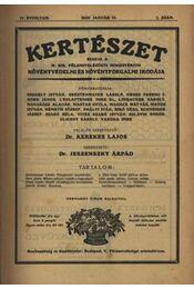 Kertészet, VII. teljes évfolyam - 1930 - Régikönyvek