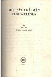 Elbeszélések XV. (Kritikai kiadás) - Régikönyvek