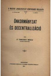 Önkormányzat és decentralizáció - Régikönyvek