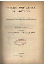 Társadalompolitikai Feladataink - Régikönyvek