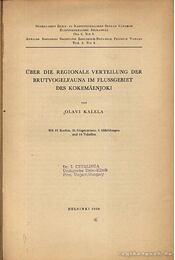 Über die Regionale Verteilung der Brutvogelfauna im Flussgebiet des Kokemaenjoki - Régikönyvek