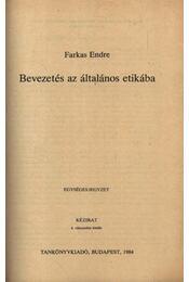 Bevezetés az általános etikába - Régikönyvek