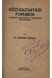 Közigazgatási Forumok - Régikönyvek