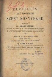 Bevezetés az ószövetségi szent könyvekbe - Régikönyvek