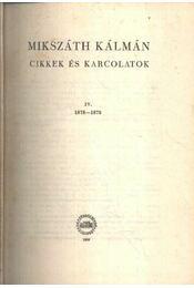 Cikkek és karcolatok IV. (Kritikai kiadás) - Régikönyvek