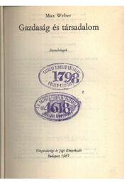 Gazdaság és társadalom - Régikönyvek