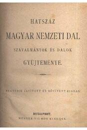Hatszáz magyar nemzeti dal - Régikönyvek