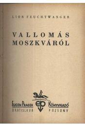 Vallomás Moszkváról - Régikönyvek