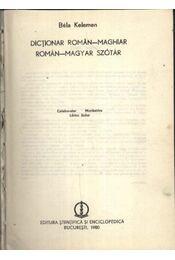 Román-magyar szótár - Régikönyvek