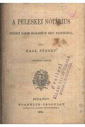 A peleskei nótárius - Régikönyvek