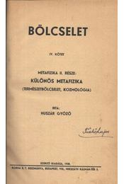 Bölcselet IV. kötet - Régikönyvek