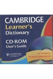 Cambridge Learner's Dictionary + CD-rom - Régikönyvek