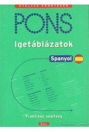 Pons - igetáblázatok spanyol - Carlos Segoviano - Régikönyvek