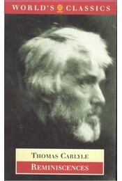 Reminiscences - Carlyle, Thomas - Régikönyvek