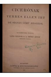 Cicerónak Verres ellen irt De signis című beszéde - Régikönyvek