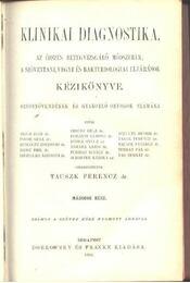 Klinikai diagnostika I-II. - Régikönyvek