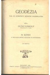Geodézia I-IV. kötet - Régikönyvek