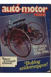 Autó-motor 1986. (teljes) - Régikönyvek