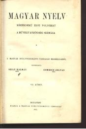 Magyar nyelv VII. kötet - Régikönyvek