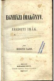 Egyházi imakönyv - Régikönyvek