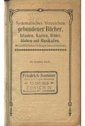 Systematisches Bücher-Verzeichnis - Régikönyvek