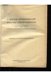 A magyar népköztársaság polgári törvénykönyve - Régikönyvek