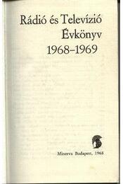 Rádió és Televízió Évkönyv 1968-1969 - Régikönyvek