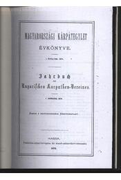 Vad és vadászat a magas Tátrában (Jahrbuch des Ungarfchem Karpathen-Vereines) - Régikönyvek