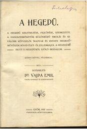 A hegedű - Régikönyvek