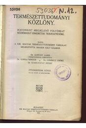 Természettudományi közlöny LVII. kötet - Régikönyvek