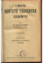 A magyarbüntető törvények zsebkönyve - Régikönyvek