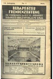 Budapesti Idegenforgalmi Újság, The forigners' gazette of Budapest, Budapester Fremdenzeitung 1934. Nr. 2. - Régikönyvek