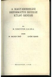 A magyarországi református egyház külső rendje - Régikönyvek