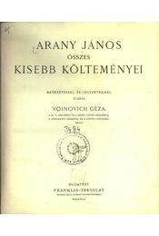 Arany János összes kisebb költeményei - Régikönyvek