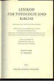 Lexikon für Theologie und Kirche I-X. band - Régikönyvek