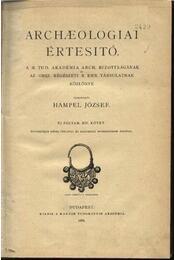 Archaeologiai Értesítő (1891-től 1917-ig) 22. évfolyam - Régikönyvek