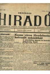 Országos Híradó 1932-33. évfolyam - Régikönyvek